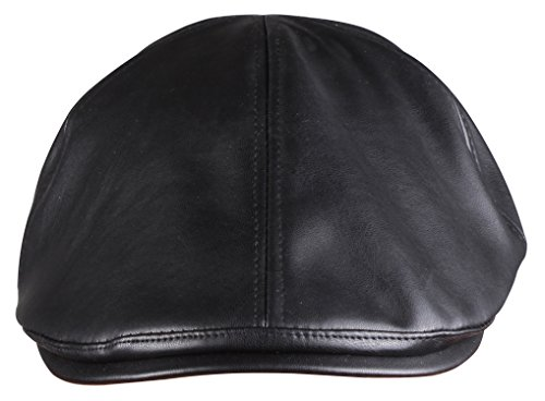 ORSKY Black Newsboy Cap Adult Flat Hat Classic Irish Cap Ivy Driving Cap Black