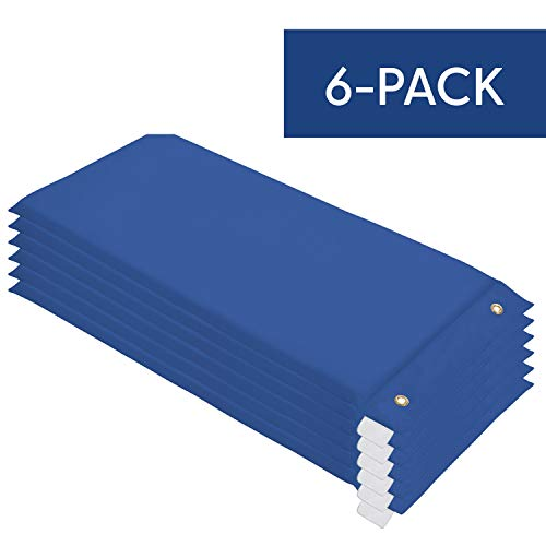 SoftScape Hanging Rest Mat - Daycare and Preschool Nap Mats (6-Pack) - Blue