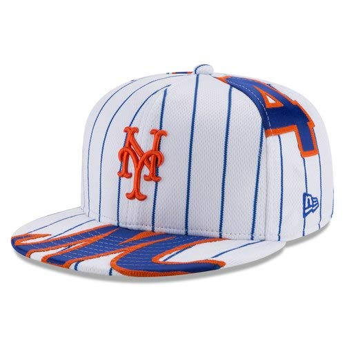 New Era NOAH Syndergaard New York Mets White Player Authentic Jersey V1 9FIFTY Snapback Adjustable HAT by New Era (Image #8)