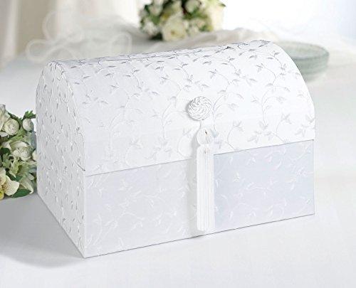 Elegant Satin Card Box - White