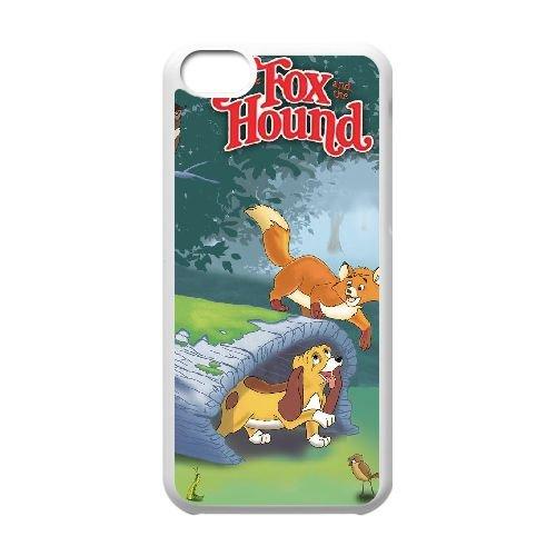 B2M17 Fox et le cas Téléphone cellulaire 5c couverture de coque Hound K6U3MC coque iPhone blanc WX6UWB3PN