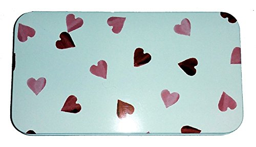 MOTHERS DAY GIFT - ELITE BOXES - EMMA BRIDGEWATER HEARTS DESIGN GIFT IDEA HINGED TIN {jg} Great for Mom, Dad, sister, brother, Grandparents, aunt, Uncle, cousin, friend.
