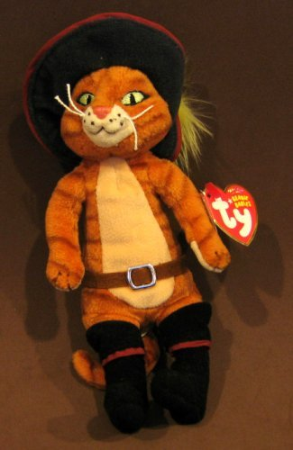 c2a58029da4 Image Unavailable. Image not available for. Color  TY Beanie Baby - PUSS IN  BOOTS ...