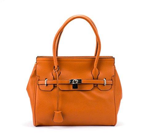 Newbee Fashion® - Designer Inspired High Quality Medium Fashion Handbag Satchel With Lock 2285-310632v3
