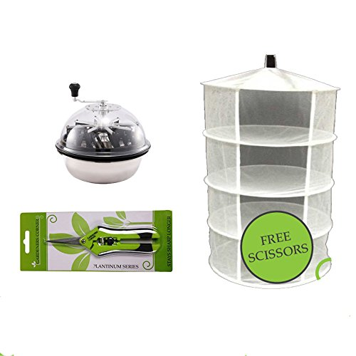 Hydroponics Ultra Spin Pro & Tumble Leaf Trimmer Cutter Trimming Bowl & Dry Net ACI