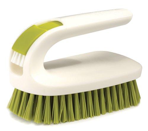 Joseph Joseph Green and White 2 in 1 Scrubbing and Detail Brush - Tough Nylon Bristles (Joseph Joseph Scrubber compare prices)