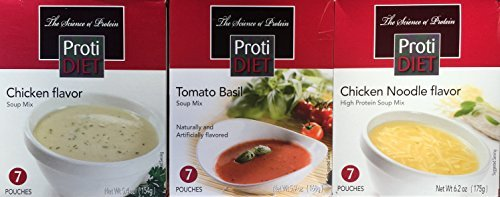 Best Tomato Flavor (Protidiet Variety Pack Soup Mix - Creamy Chicken, Tomato, Chicken Noodle 21 Servings (Chicken Flavor))