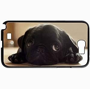 Personalized Protective Hardshell Back Hardcover For Samsung Note 2, Dog Design In Black Case Color