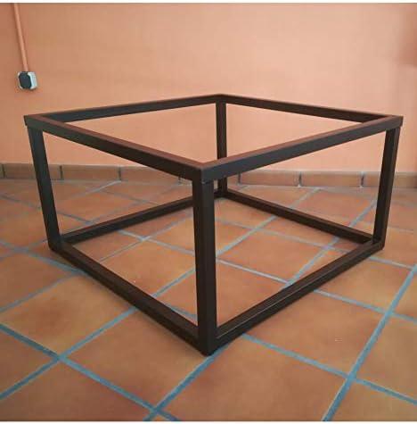 Mesa elevable de forja Cubo 90x90 Color Negro - Sin aglomerado: Amazon.es: Hogar
