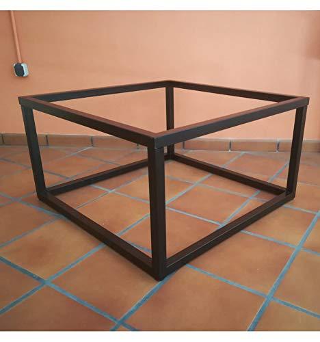 Mesa elevable de forja Cubo 90x90 Color Negro - Sin ...