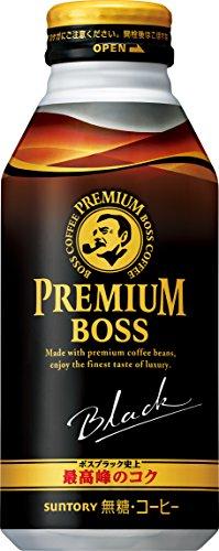 [일본 산토리 보스 캔커피 / SUNTORY BOSS COFFEE] 산토리 커피 프리미엄 보스 블랙 390g 보틀관×24개