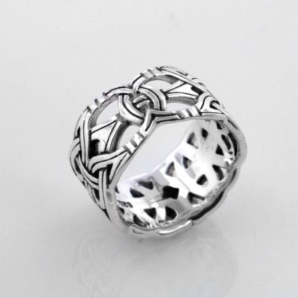 amazoncom viking braided wedding band borre knot norse celtic 10mm sterling silver ringsizes 456789101112131415 jewelry - Norse Wedding Rings