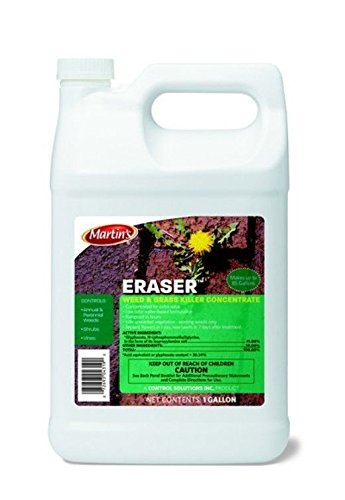1 Gal 41% Glyphosate Herbicide Grass Brush Weed Killer Conc Surfactant Eraser
