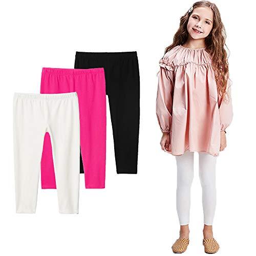 Bear Mall Toddler Girls Leggings Full Length Cotton Leggings 3-Pack/Littler Girl 5T (Care Bear Panties)