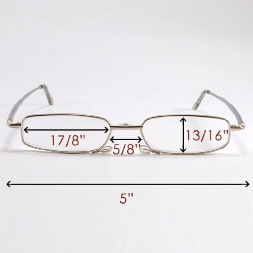 Jambo Unique Flip-top Design Eyewear Slim Folding Foldable Reading Glasses +2.50 Spectacles Reader