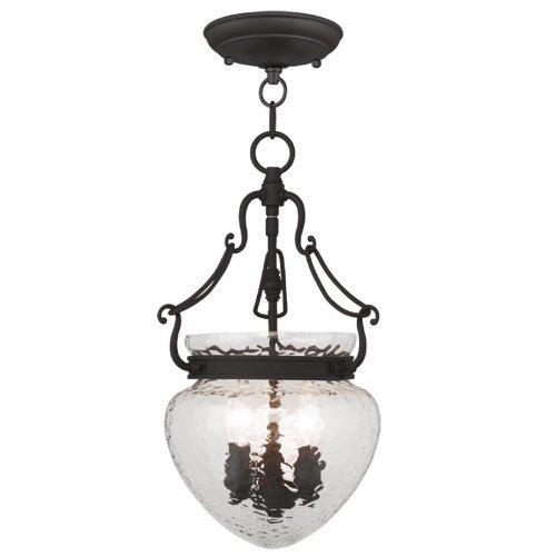 Livex Lighting 5041-07 Duchess 3-Light Convertible Chain Hang/Ceiling Mount, Bronze by Livex Lighting [並行輸入品] B018A3473Y