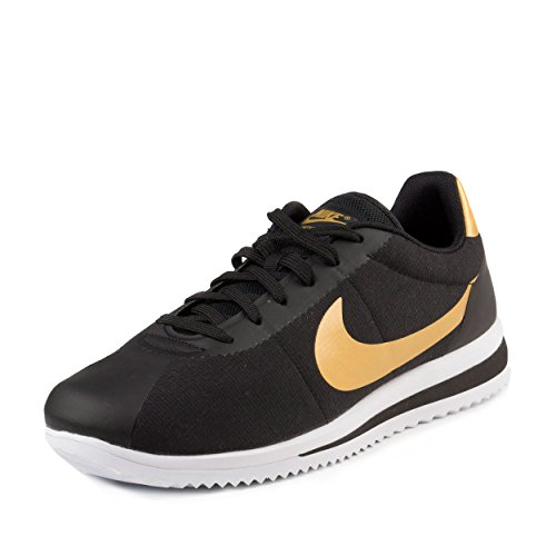 Nike Mens Cortez Ultra QS Black/Metallic Gold-Black Canvas Size 10.5