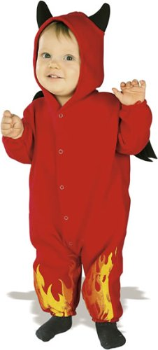 Rubie's Costume EZ-On Romper Costume, Lil' Devil, 6-12 Months