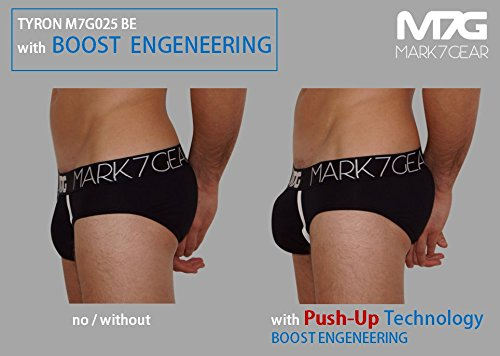Unterhose Mark7Gear, Herren Slip TYRON - schwarz- mit Boost Engeneering (PUSH-UP)