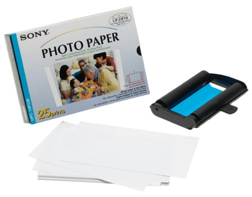 and Paper for UP-DP10 Printer (4x6, 25 Sheets) (Sony Color Print Pack)