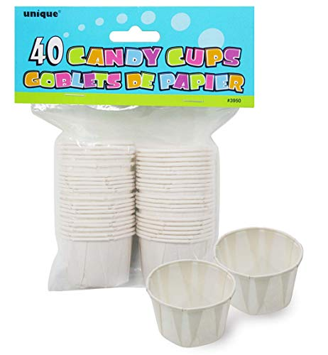 White Paper Candy and Condiment Cups, 40ct]()