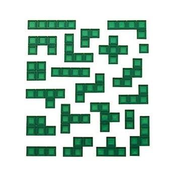 FULL SET OF 21 GREEN PIECES Mattel BLOKUS Replacement parts