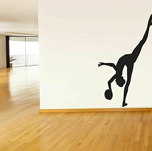 Tomikko Wall Vinyl Sticker Decals Art Decor Gymnastics Yoga Gymnast Girl Olympics #212 | Model DCR - 626