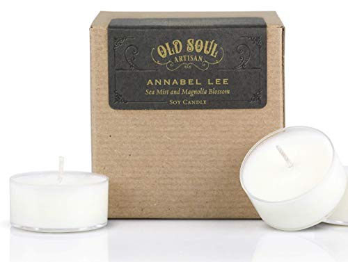 Annabel Lee - Sea Mist and Magnolia Tea Light Candles Hand Poured Edgar Allan Poe Book Lover - 16]()