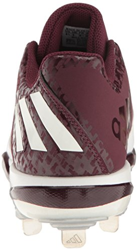 Maroon Men's X Shoe Freak Silver adidas Metallic White Carbon Baseball Mid F07dqx1