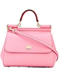 Women's BB6002AI3528H401 Pink Leather Handbag