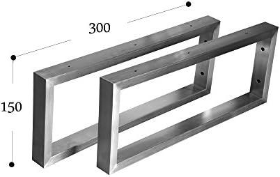Estante de pared soporte de pared acero inoxidable 201 40 x 20 Consola Soporte de estante (150x300 - 1 par)