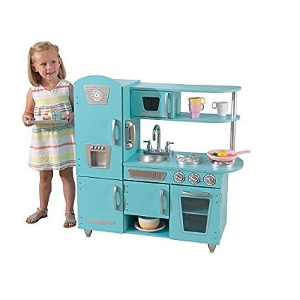 amazon com kidkraft vintage kitchen in blue toys games rh amazon com KidKraft Kitchen Accessories Under 15 00 Vintage Kitchen Fridge