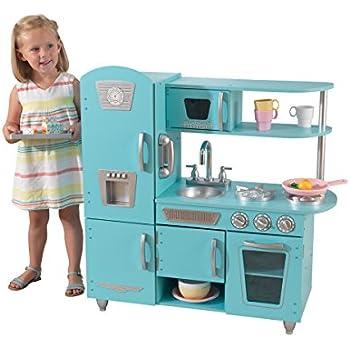 Amazon Com Kidkraft Vintage Kitchen In Blue Toys Amp Games