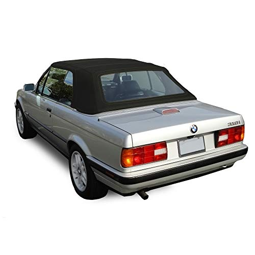 Fits: BMW 3 Series E30 Convertible Soft top 1987-1993 325i, 320i, 318i M3 Black Stayfast Cloth