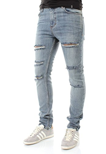 Just Junkies Jeans Men SICKO Philly Blue Holes