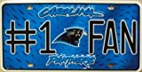 Carolina Panthers #1 Fan NFL Embossed Vanity Metal Novelty License Plate Tag Sign