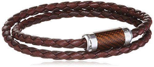 Tateossian Montecarlo Silver Brown Medium Double Wrap Bracelet