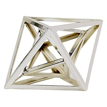Kate and Laurel Indra Geometric Desktop Paperweight Decorative Sculpture