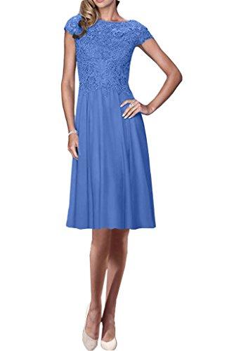 amp;Spitze Blau Kurz Damen Linie Kurz Exquisite Promkleid Ivydressing Partykleid Chiffon A Lang Aermel Abendkleid xBqOpCwnW