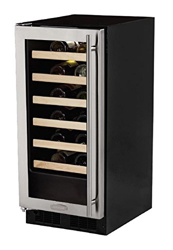 AGA Marvel ML15WSG1LS Wine Cellar, Left Hinge Stainless Steel Frame Glass Door, 15-Inch