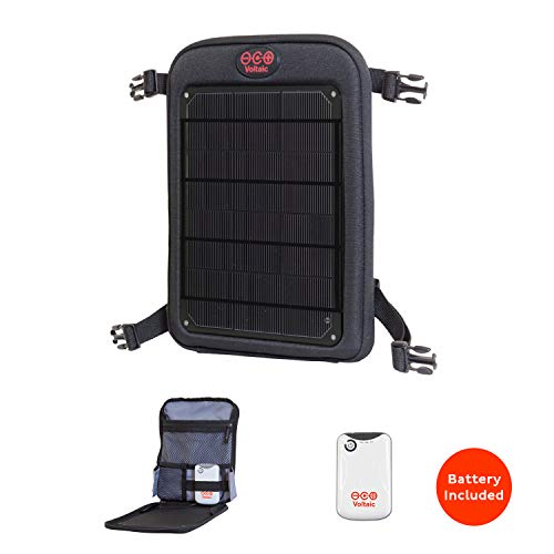 Voltaic Systems - Fuse 6 Watt USB Solar Charger with Backup Battery Pack - Charcoal | Powers Phones, Tablets, DSLR cameras, More | Charges Your Phone as Fast as at Home | Portable Powered Panel