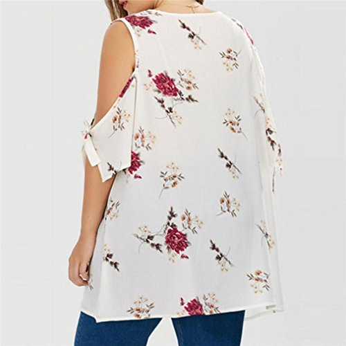 fa544b4b6ac5c YANG-YI Summer T-Shirt, Clearance Hot 2018 Women Floral V-Neck ...