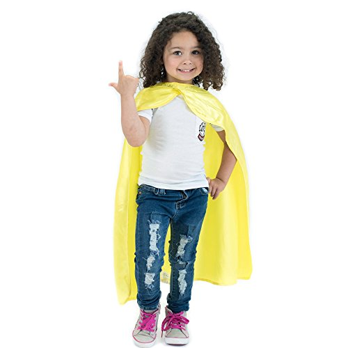 Everfan Yellow Polyester Satin Superhero Cape - Kids -