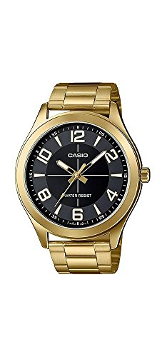 Casio-MTP-VX01G-1B-Mens-Gold-Tone-Stainless-Steel-Big-Case-Black-Dial-Watch