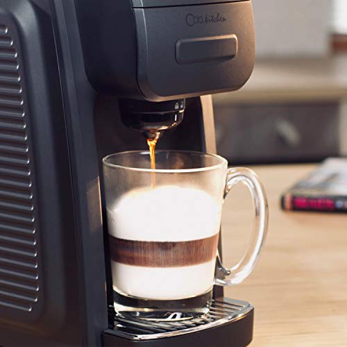 ODA KITCHEN Serve Coffee Maker with oz Removable Compatible with The Single Cup 6 to Brew for Office, Travel, Black