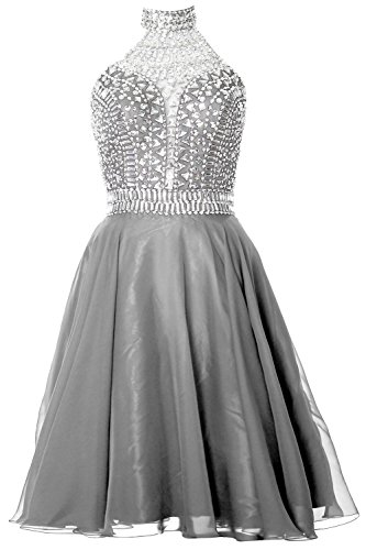 MACloth Gorgeous Halter Prom Homecoming Dress High Neck Cocktail ...