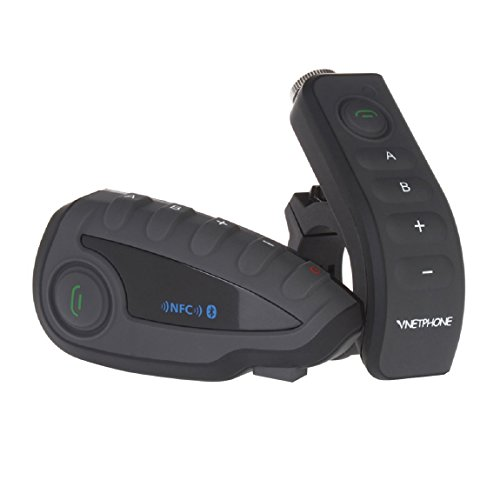 Vnetphone V8 BT 3.0 Bluetooth Intercom Motorcycle Helmet Waterproof Interphone Headset 5 Riders up to 1200M Wireless communication Walkie Talkie Connecting to MP3/GPS & FM (Motorcycle Wireless Helmet Headset)