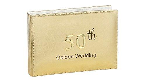 Metallic Gold 50th Wedding Anniversary Photo Album By Haysom