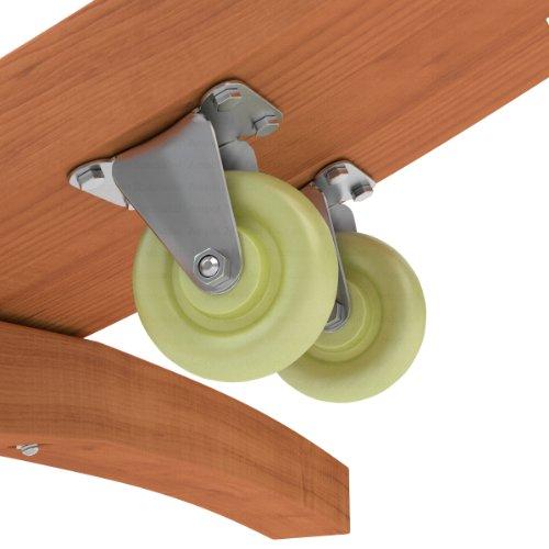 2 Rollen / Räder für alle Hängemattengestelle aus Holz - für den einfachen Transport