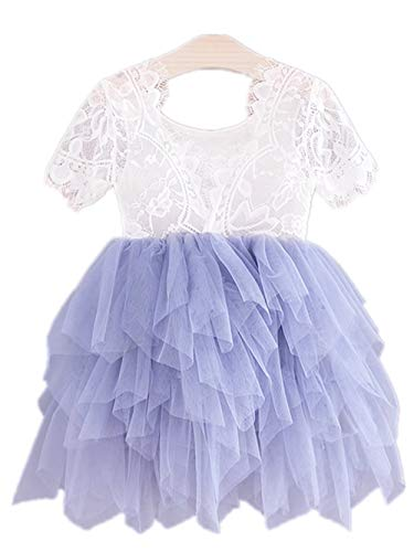 2Bunnies Girl Rose Lace Back A-Line Straight Tutu